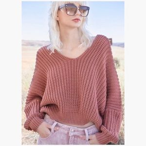 ❄️SOFT RED BEAN KNIT SWEATER